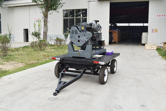 30kw / 37.5kva 4 cylinders silent diesel generator set / movable trailer mounted generator